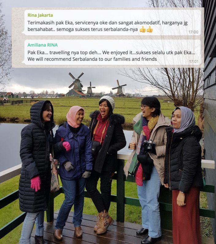 Dokter dokter Indonesia ikut konferensi di Eropa. Mampir dulu di Belanda ikut tour Serbalanda dan #supirsantun