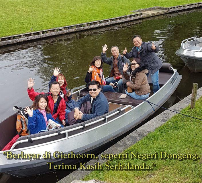 Berlayar di Giethoorn seperti Negeri Dongen. Terima Kasih Serbalanda.