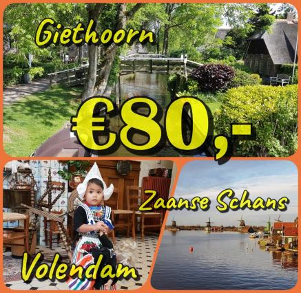 Giethoorn, Volendam dan Zaanse Schans