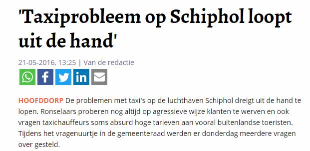 Taksi Schiphol01