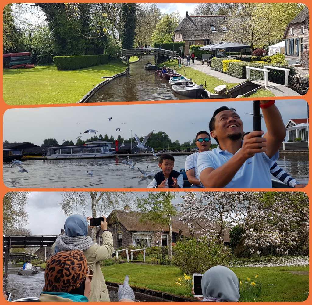 Wisata Giethoorn dan Keukenhof,  ke Keukenhof sekalian kombinasi dengan Giethoorn. Dua wisata menarik di Belanda.