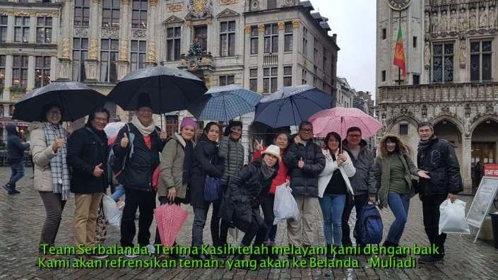 Testimoni tentang Serbalanda. Terima Kasih telah melayani kami dengan baik. Kami akan referensikan teman-teman yang akan ke Belanda.