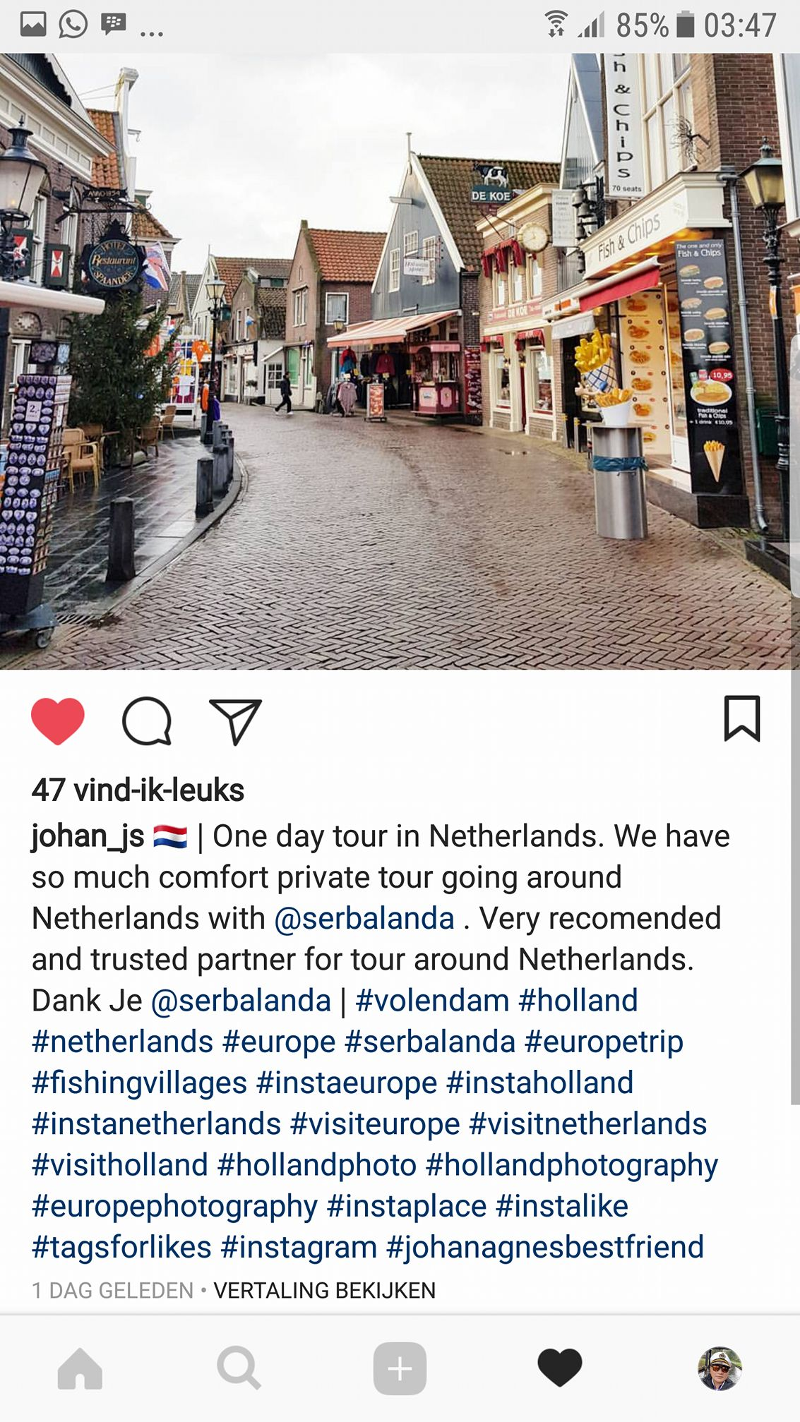One day tour in Netherlands. We have so much comfort private tour going around in the Netherlands with Serbalanda. Very recommended and trusted partner for tour around Netherlands.