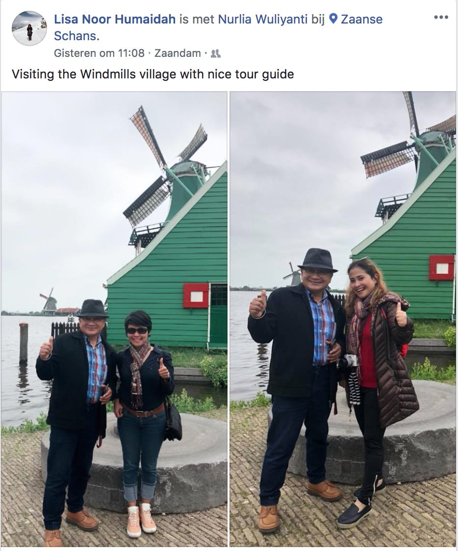 Visiting The Windmills village with Nice Tour Guide. Lisa Noor Humaidah