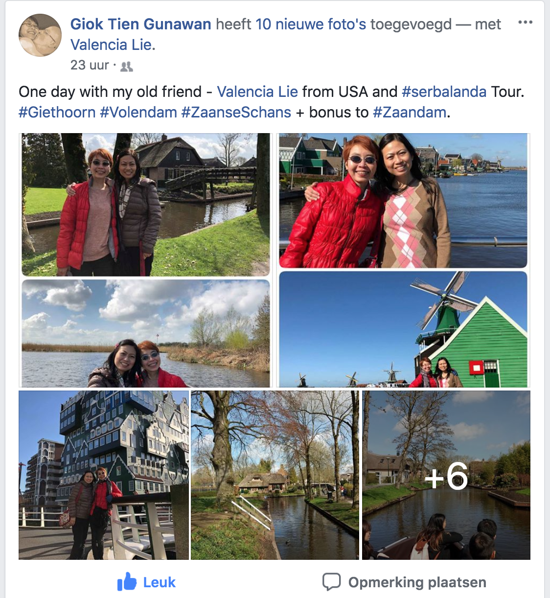 One Day with my old fiend from USA and Serbalanda Tour. Giethoorn, Volendam dan Zaanse Schans and bonus Zaandam.