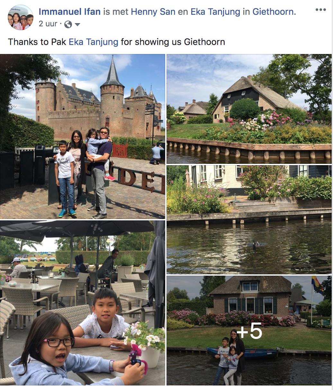 Terima Kasih sudah diajak jalan-jalan di Giethoorn. Thanks to Pak Eka Tanjung for showing us Giethoorn. Wisata ke Giethoorn, Volendam dan Zaanse Schans.