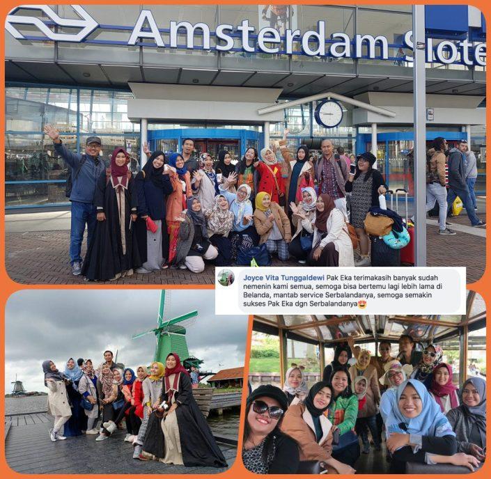 Terima Kasih Serbalanda dan Pak Eka untuk jalan-jalannya semoga bisa bertemu lagi dan bisa jalan lebih lama di Belanda. Service serbalanda mantap. Semoga semakin sukses. Wisata ke Giethoorn, Volendam dan Zaanse Schans.