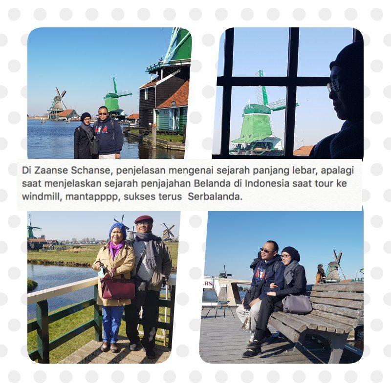 Penjelasan di Kincir Angin Zaanse Schans yang panjang lebar. Menjelaskan sejarah penjajahan Belanda di Indonesia.