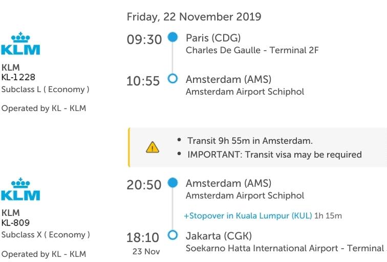 Transit dari Paris ke Jakarta lewat Amsterdam. Jalan-jalan di Amsterdam, Transit di Amsterdam perlu ada visa Schengen.