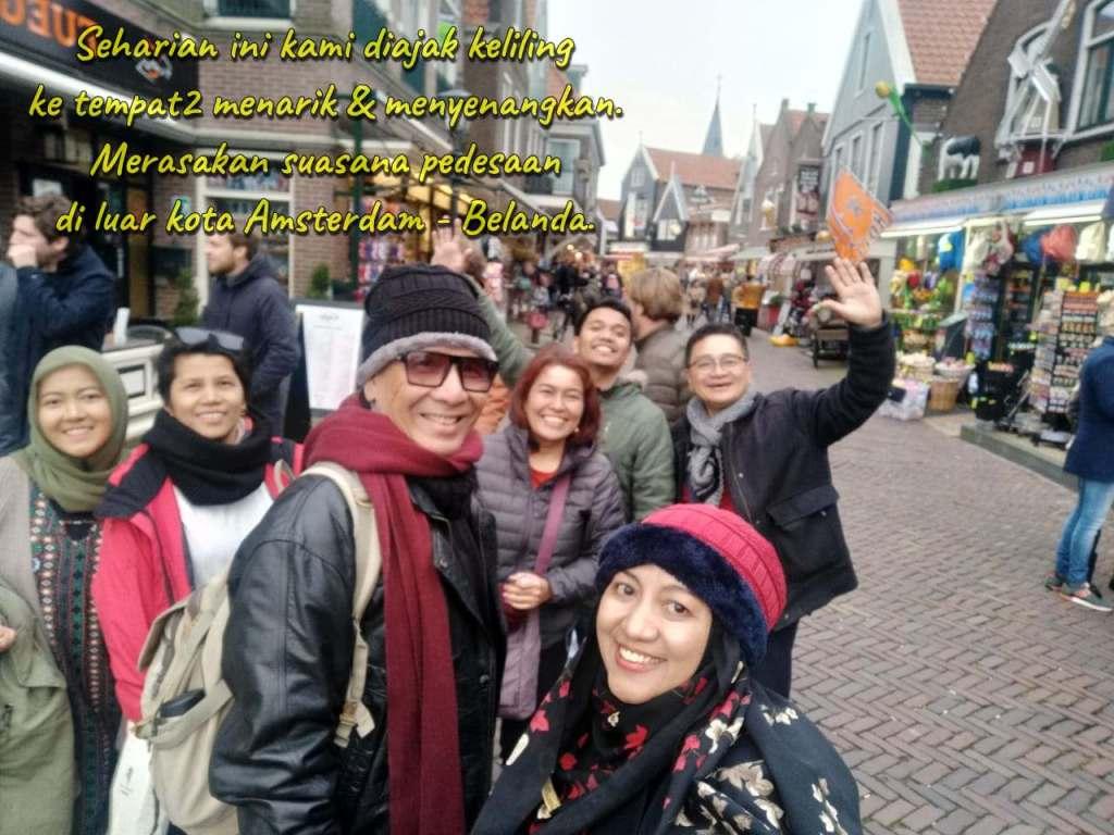 Seharian ini kami diajak keliling ke tempat-tempat menarik dan menyenangkan di Belanda, di luar kota Amsterdam. Tur Belanda, Plesiran di Belanda, Wisata di Belanda, Liburan di Belanda, Transit di Belanda