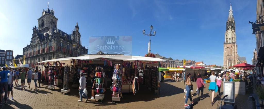 Alun-alun Delft, Kota Delft, Wisata Delft, Liburan Belanda, Spot Menarik di Belanda, Jalan-jalan di Amsterdam